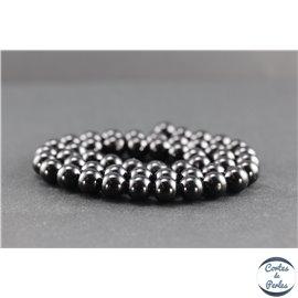 Perles en spinelle noire de Madagascar - Rondes/8mm - Grade AB