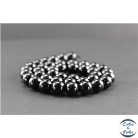 Perles en spinelle noire de Madagascar - Rondes/10mm - Grade AB