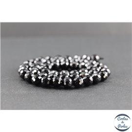 Perles facettées en spinelle noire de Madagascar - Rondes/8mm - Grade A