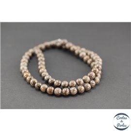 Perles semi précieuses en jaspe - Rondes/6 mm - Bamboo raft