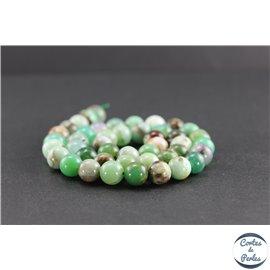 Perles en chrysoprase d'Australie - Rondes/10 mm - Grade AB