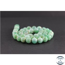 Perles en chrysoprase d'Australie - Rondes/10 mm - Grade A