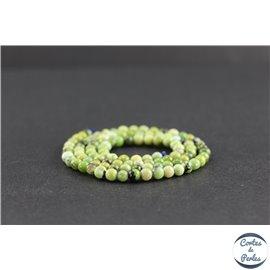 Perles en jaspe vert d'Australie - Rondes/4mm - Grade AB