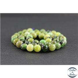 Perles en jaspe vert d'Australie - Rondes/8mm - Grade AB