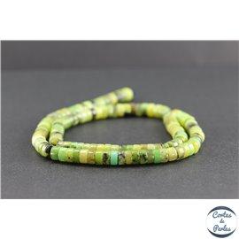 Perles en jaspe vert d'Australie - Roues/6 mm - Grade AB