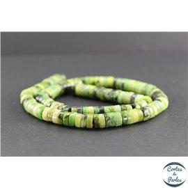 Perles en jaspe vert d'Australie - Roues/8 mm - Grade AB