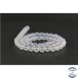 Perles en calcédoine de Turquie - Rondes/6 mm - Grade AB