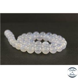 Perles en calcédoine de Turquie - Rondes/10mm - Grade AB