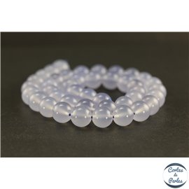 Perles en calcédoine océan de Turquie - Rondes/10mm - Grade A