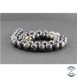 Perles en iolite de Madagascar - Rondes/10mm - Grade AB
