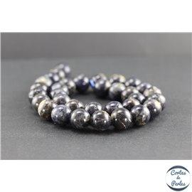 Perles en iolite de Madagascar - Rondes/12 mm - Grade AB