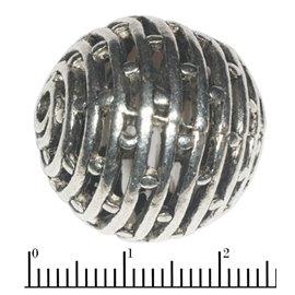 Apprêts American Finding Boules Vernies - Ronde/25 mm - Argenté