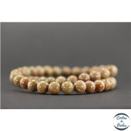 Perles en jaspe automne - Rondes/8mm