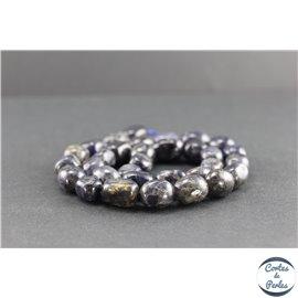 Perles en iolite de Madagascar - Nuggetss/12mm - Grade AB