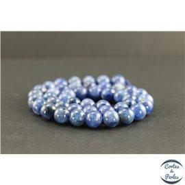 Perles en cyanite du Brésil - Rondes/8 mm - Grade AB