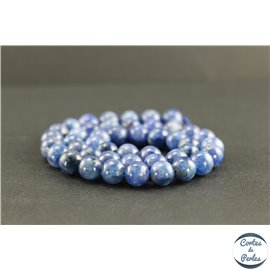 Perles en cyanite du Brésil - Rondes/8mm - Grade AB+