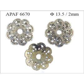 Apprêts American Finding Coupelles Vernies - 13,5 mm - Argenté