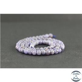 Perles en tanzanite de Tanzanie - Rondes/4mm - Grade A