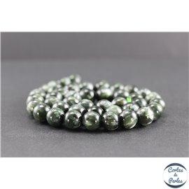 Perles en séraphinite de Russie - Rondes/10 mm - Grade AA