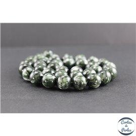 Perles en séraphinite de Russie - Rondes/12 mm - Grade AA