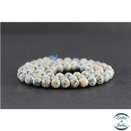 Perles en jaspe K2 du Pakistan - Rondes/6 mm - Grade A