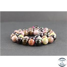 Perles en tourmaline de Madagascar - Rondes/10 mm - Grade AB