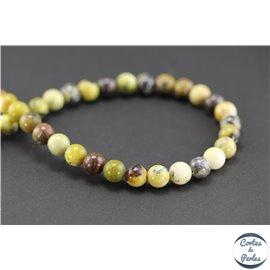 Perles en jaspe océan - Rondes/8mm