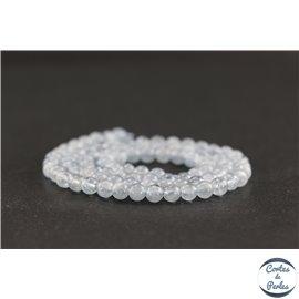 Perles en aigue-marine d'Afrique du Sud - Rondes/4mm - Grade AA