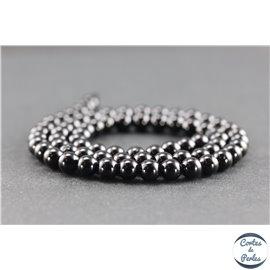 Perles en spinelle noire de Madagascar - Rondes/6mm - Grade AB