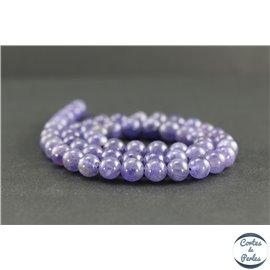 Perles en tanzanite de Tanzanie - Rondes/7.5mm - Grade A