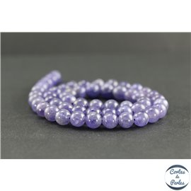 Perles en tanzanite de Tanzanie - Rondes/8mm - Grade A