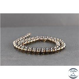 Perles en quartz fumé du Brésil - Rondes/6mm - Grade A