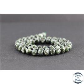 Perles en séraphinite de Russie - Rondes/6 mm - Grade AA