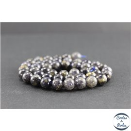 Perles en iolite de Madagascar - Rondes/8mm - Grade AB