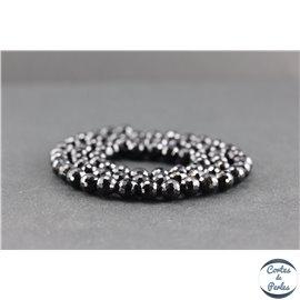 Perles facettées en tourmaline noire de Madagascar - Rondes/6 mm - Grade AB