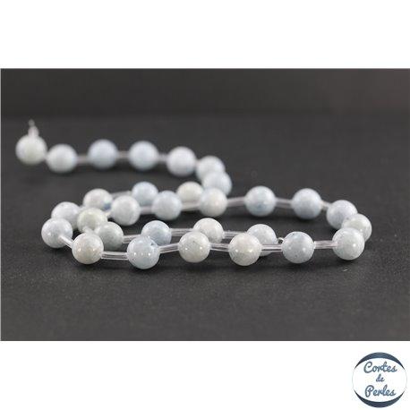 Perles en célestine de Madagascar - Rondes/8 mm - Grade AB