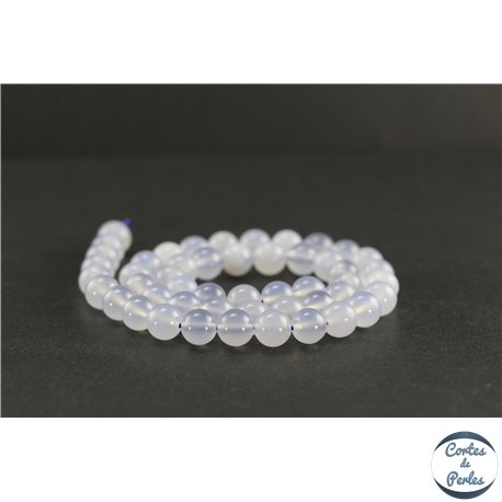 Perles en calcédoine de Turquie - Rondes/8 mm - Grade AB
