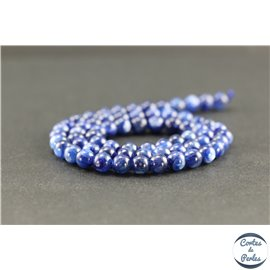 Perles en cyanite du Brésil - Rondes/6 mm - Grade A