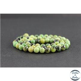 Perles en jaspe vert d'Australie - Rondes/6mm - Grade AB