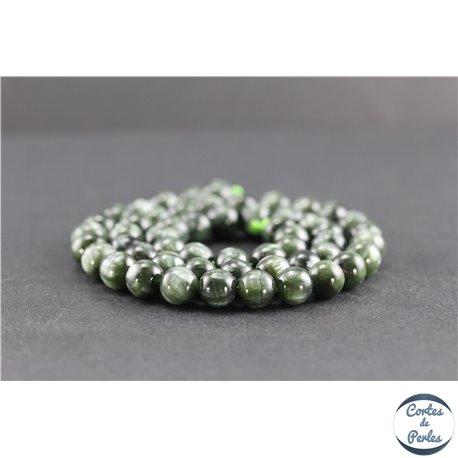 Perles en séraphinite de Russie - Rondes/8 mm - Grade AA