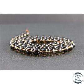Perles en quartz fumé du Brésil - Rondes/8mm - Grade A