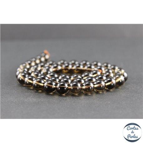 Perles en quartz fumé du Brésil - Rondes/8 mm - Grade A