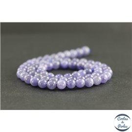 Perles en tanzanite de Tanzanie - Rondes/6 mm - Grade A