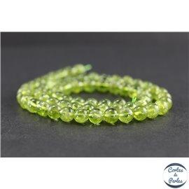 Perles en péridot - Rondes/6 mm - Grade AA