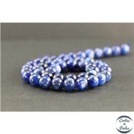 Perles en cyanite du Brésil - Rondes/8 mm - Grade A