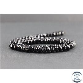 Perles facettées en tourmaline noire de Madagascar - Roues/6mm - Grade AB
