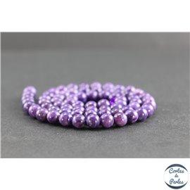Perles en charoïte de Russie - Rondes/6mm - Grade AAA