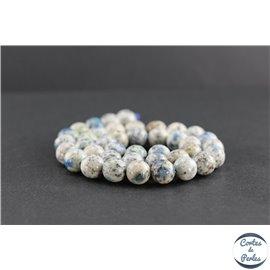 Perles en jaspe K2 du Pakistan - Rondes/10mm - Grade AB