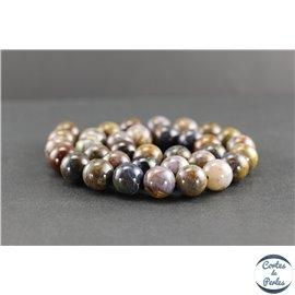 Perles en pietersite de Chine - Rondes/12mm - Grade AB