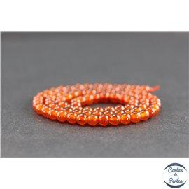Perles en cornaline du Yémen - Rondes/4mm - Grade AA